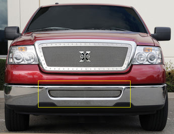 T-REX Upper Class Series, Overlay Bumper Grille - Polished - 2004-2005 F150