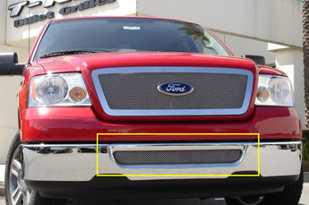 T-REX Upper Class Series, Bolt On Bumper Grille - Polished - 2006-2008 F150