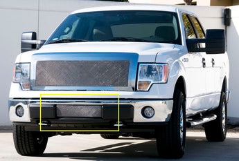 T-REX Upper Class Series, Bolt On Bumper Grille - Polished - 2009-2013 F150