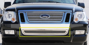 T-REX Upper Class Series, Bolt On Bumper Grille - Polished - 2006-2010 Explorer SportTrac