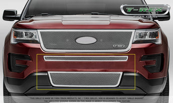 T-REX Upper Class Series, 2 Piece Overlay Bumper Grille - Polished - 2016-2018 Explorer