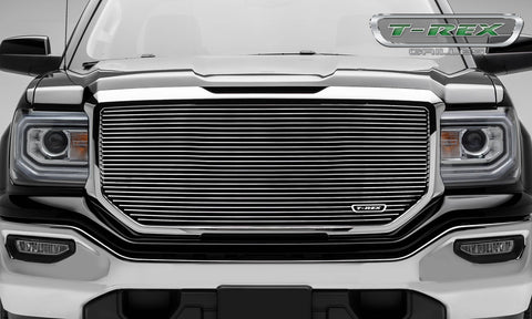 T-REX Laser Billet Series, Insert Grilles - Polished - Requires Drilling or Cutting - 2016-2018 GMC 1500