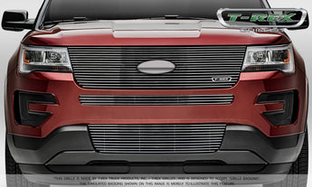 T-REX Laser Billet Series, Grilles w/ factory Logo - Polished - 2016-2018 Explorer