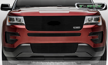 T-REX Laser Billet Series, Grilles w/ factory logo - Powdercoat - 2016-2018 Explorer