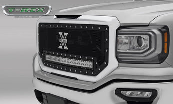 T-REX Torch Series, 1 Piece Insert Grilles - Requires Drilling or Cutting - 2016-2018 GMC 1500