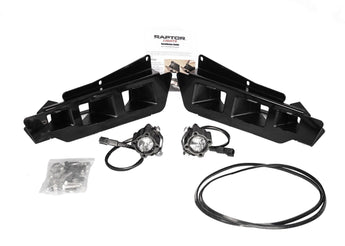 "Triple Bezel Fog Kit  (No 3"" Cube Lights) - 2017-2020 Ford Raptor"