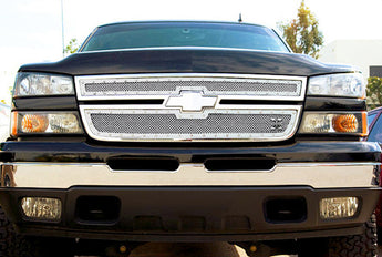 T-REX X Metal Series, Overlay Grilles - Polished - 2005-2007 Silverado