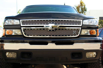 T-REX X Metal Series, Overlay Grilles - Powdercoat - 2006 Chevy