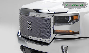 T-REX X Metal Series, Grilles - Polished - 2016-2018 Chevy 1500