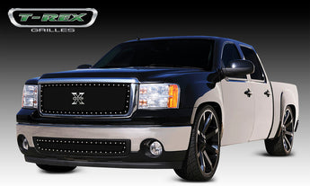 T-REX X Metal Series, Insert Grilles - Powdercoat - Requires Drilling or Cutting - 2007-2013 Sierra