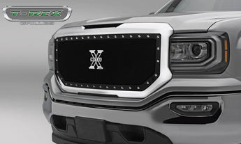 T-REX X Metal Series, 1 Piece Insert Grilles - Requires Drilling or Cutting - 2016-2018 GMC 1500