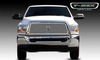 T-REX X Metal Series, 1 Piece Insert Grilles - Polished - Requires Drilling or Cutting - 2010-2012 Ram 2500/3500