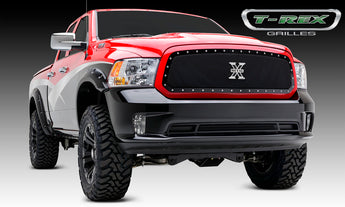 T-REX X Metal Series, 1 Piece Insert Grilles - Requires Drilling or Cutting - 2013-2018 Ram 1500