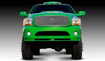 T-REX X Metal Series, 1 Piece Insert Grilles - Polished - Requires Drilling or Cutting - 2006-2008 Ram 1500