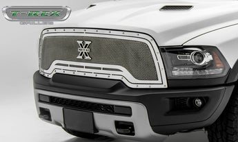 T-REX X Metal Series, 1 Piece Grilles - Polished - 2015-2018 Ram 1500