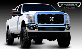 T-REX X Metal Series, 1 Piece Insert Grilles - Requires Drilling or Cutting - 2011-2016 Superduty