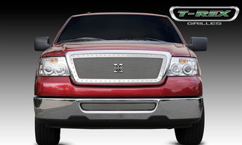 T-REX X Metal Series, Insert Grilles - Polished - Requires Drilling or Cutting - 2004-2008 F150
