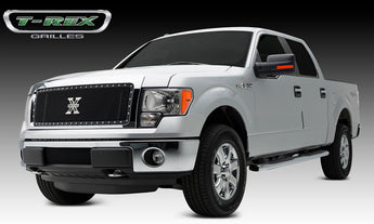 T-REX X Metal Series, 1 Piece Insert Grilles - Requires Drilling or Cutting - 2013-2014 F150