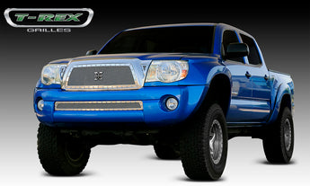 T-REX X Metal Series, Insert Grilles - Polished - Requires Drilling or Cutting - 2005-2010 Tacoma