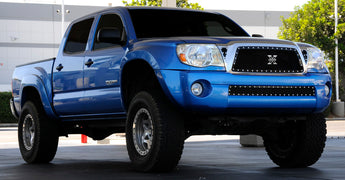 T-REX X Metal Series, Insert Grilles - Powdercoat - Requires Drilling or Cutting - 2005-2010 Tacoma