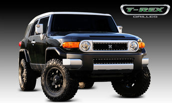 T-REX X Metal Series, Insert Grilles - Powdercoat - Requires Drilling or Cutting - 2007-2014 FJ