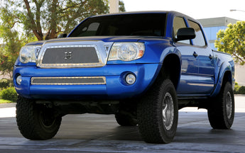 T-REX X Metal Series, Insert Grilles - Polished - Requires Drilling or Cutting - 2011 Tacoma