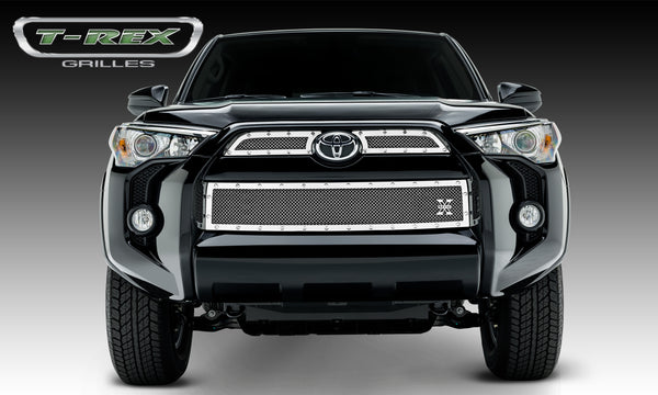 T-REX X Metal Series, 3 Piece Overlay Grilles - Polished - 2014-2018 4runner