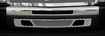 T-REX X Metal Series, Bolt On Bumper Grille - Polished - 2007-2013 Chevy 1500