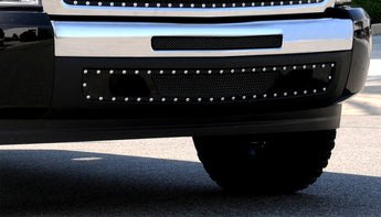 T-REX X Metal Series, 2 Piece Bolt On Bumper Grille Studded - Powdercoat - 2007-2013 Chevy 1500