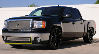 T-REX X Metal Series, Insert Bumper Grille - Polished - Requires Drilling or Cutting - 2007-2013 Sierra