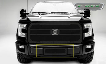 T-REX X Metal Series, Insert Bumper Grille - Powdercoat - Requires Drilling or Cutting - 2015+ F150