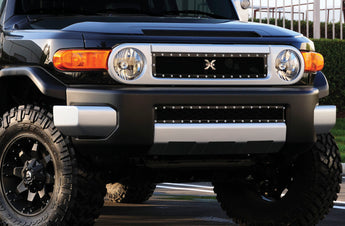 T-REX X Metal Series, Overlay Bumper Grille - Powdercoat - 2007-2014 FJ