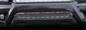 T-REX X Metal Series, Overlay Bumper Grille - Polished - 2012-2015 Tacoma