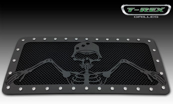 T-REX Grunt Series, 1 Piece Insert Grilles - Powdercoat - Requires Drilling or Cutting - 2007-2017 Jeep JK