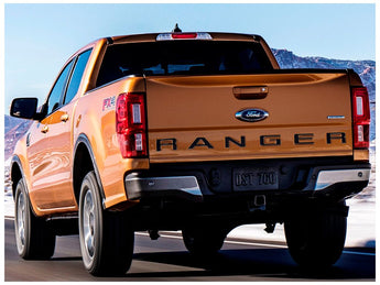 Putco Ford Lettering Black Stainless Emblems  - 2019+ Ranger