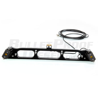 Bullet Proof Diesel - Third Brake Light Antenna Mount with Amber Baja Designs Lights