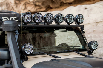 "KC Hilites 50"" Overhead Xross Bar Gravity® LED Pro-Sport 6-Light Kit - #97056 -  2007-2018 Jeep JK"
