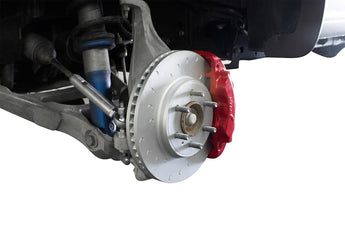 Alcon Front Brake Kit with 6 Piston Red Calipers and Rotors - '17+ Raptor