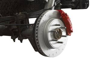 Alcon Rear Brake Kit with 4 Piston Red Calipers Pistons and Rotors - '10-14 Raptor