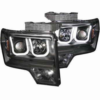 Anzo Black U Bar Projector Headlights - 2009-2014 F150/Raptor