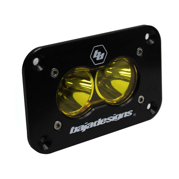 Baja Designs S2 Sport Flushmount Amber Spot LED (Single)