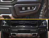 Triple Bezel Fog Light Kit with KC Hilites C3 Series Cube Lights  - 2017-2020 Raptor