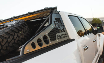 ADD Race Series Chase Rack w/ Tire Carrier and Actuated Light Bar - 2009-2020 F150 & Raptor