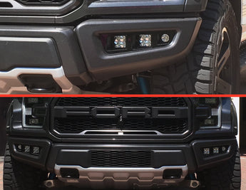 Offroad Alliance - Triple Bezel Fog Light Kit w/ Rigid Industries D-Series PRO Lights - 2017-2020 Raptor