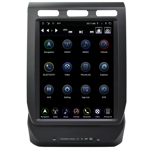 "LinksWell - GEN IV 12.1"" T-Style Radio/Tablet (TS-FDED12-1RR-4A) - 2019+ Expedition"