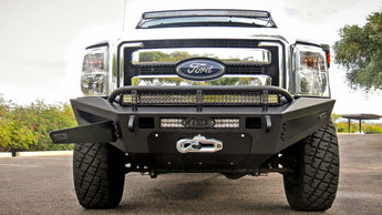 ADD HoneyBadger Front Bumper w/ Winch Mount and Storage Boxes - 2011-2016 Ford F250/350