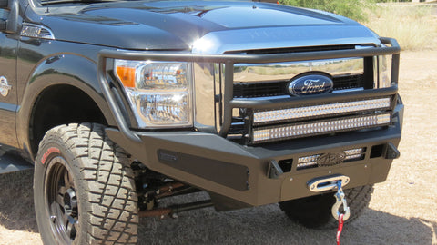 ADD HoneyBadger Rancher Front Bumper w/ Winch Mount and Storage Boxes - 2011-2016 F250/350