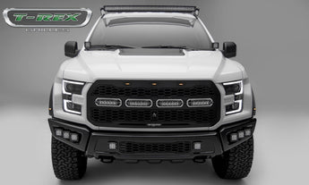 T-Rex Revolver Front Grille & LED Light Bars - 2017-2019 Ford Raptor