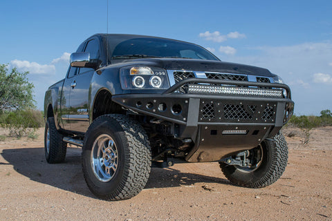 2004 2015 nissan titan standard front bumper with stealth panels 2004 2015 nissan titan standard front bumper with stealth panels and 40 light bar aloadofball Image collections