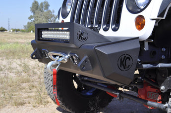 Jeep JK Stealth Fighter Jeep Rock side caps With KC Logo pair in Hammer Black